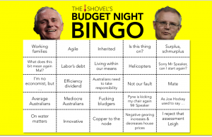 the shovel's budget night bingo