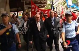 john howard protest