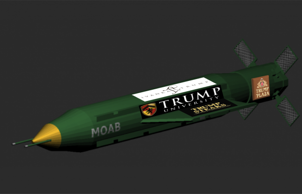 trump missile advertising