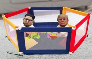 trump and kim playing