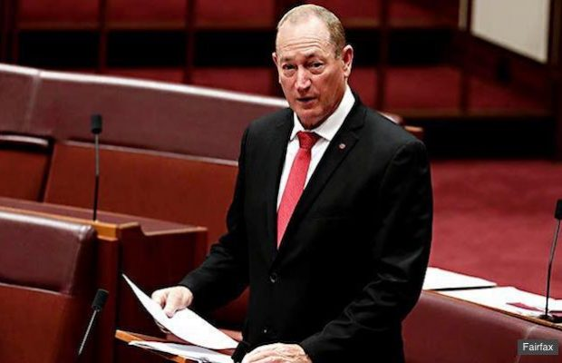Senator Fraser Anning Picture: Politicians Relieved: Anning's 'Final Solution' Distracts