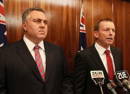 Joe Hockey and Tony Abbott satire