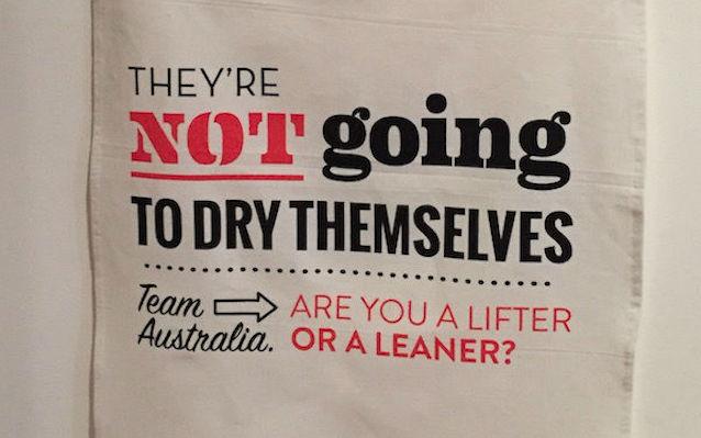 team australia tea towel