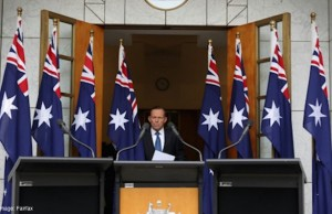 Tony Abbott 8 flags
