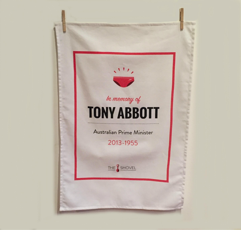 Tony Abbott Memorial Tea Towel
