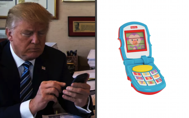 trump-phone toy phone