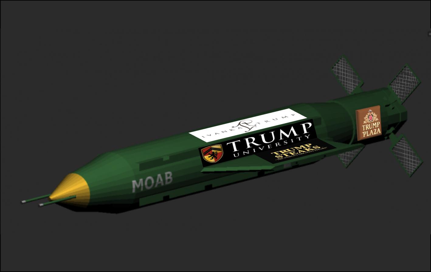 trump missile advertising