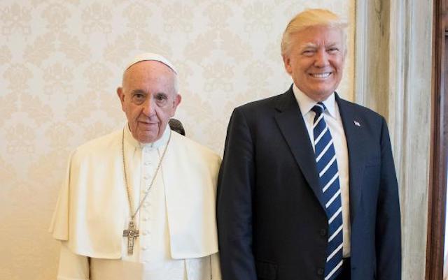 trump meets pope