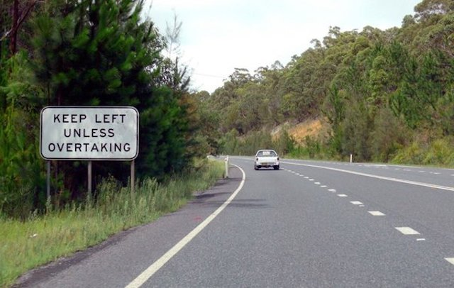 overtaking lane
