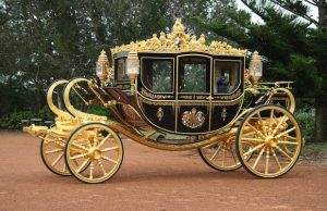royal carriage with car seat