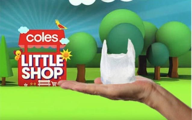 coles little shop plastic bag