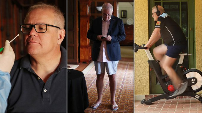 Morrison Forced To Self-Isolate With Just His Closest Photographers And Image Consultants