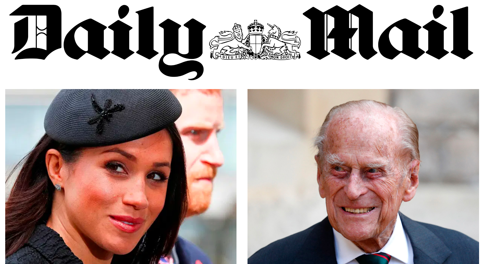 Prince Philip Died Because Meghan Markle Murdered Him, Daily Mail Reporting