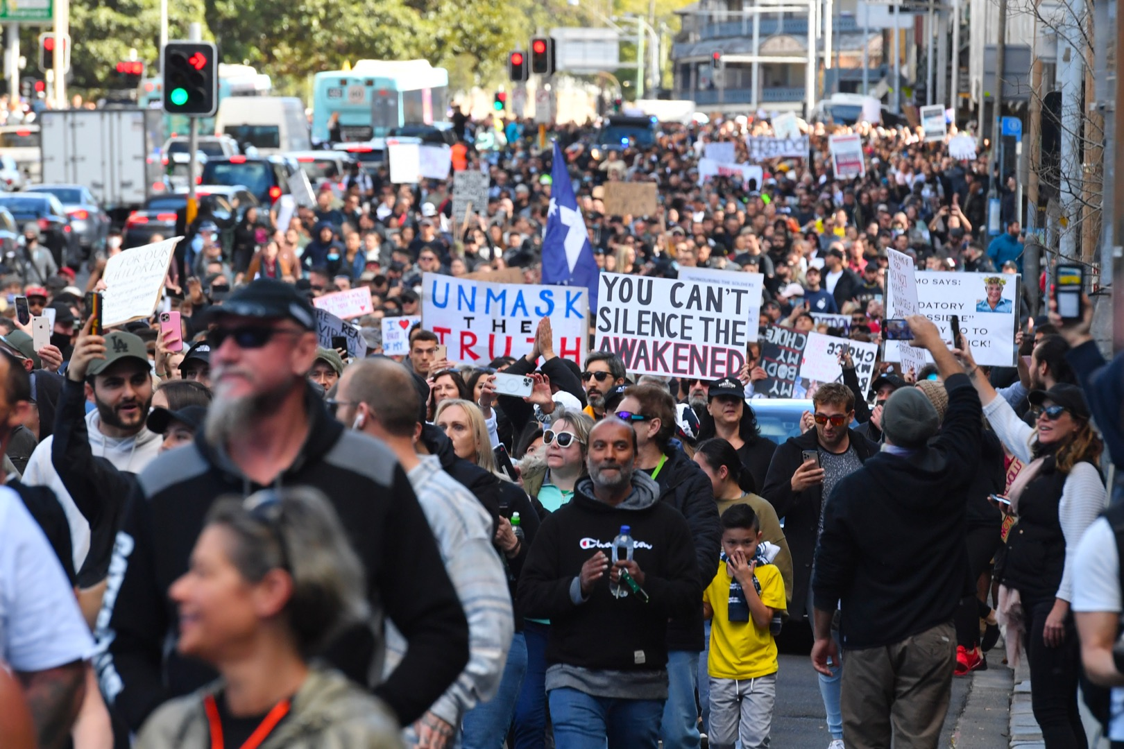 Protesters Believe Government That Can't Even Organise A Vax Rollout Is 'Controlling Them'