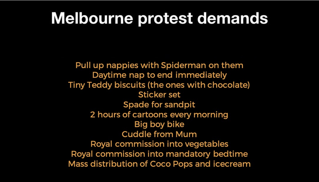 The Melbourne Protesters Have Released Their Full List Of Demands